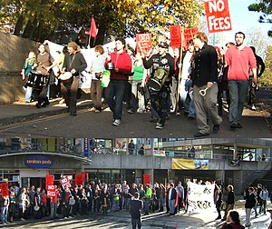 English: A march and rally organised by the UE...
