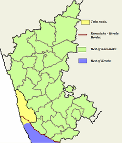 Combined map of Karnataka and part of northern Kerala
