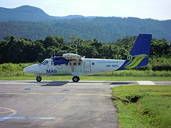 Eine de Havilland DHC-6-300 Twin Otter der MASwings