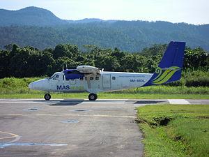 MASwings - MASwings Twin Otter 9M-MDL at Lawas airport