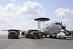 Two R-11 fuel trucks refuel an E-3 Sentry of the 380th Air Expeditionary Wing.jpg