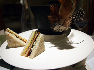 Toast sandwich - The toast sandwich served as a side dish at Heston Blumenthal's restaurant The Fat Duck