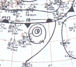 Typhoon Flossie September 16, 1966 surface analysis.png