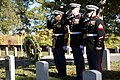 U.S. Marines place wreaths for the 241st Marine Corps Birthday in Arlington National Cemetery (30864335096).jpg