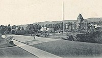 Photo of the UC campus in Berkeley around 1898, evoking an 1898 atmosphere with its looks
