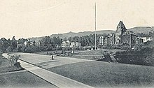 Photo of the UC campus in Berkeley around 1898