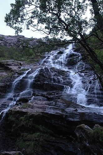 Glen Nevis - The Steall Falls from below
