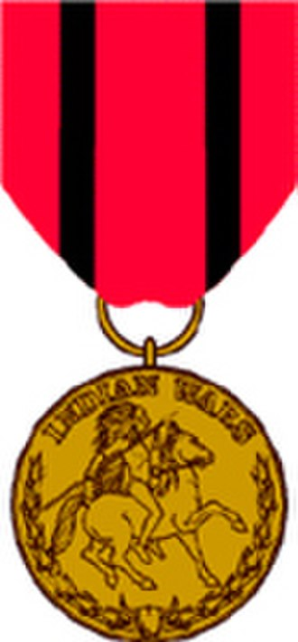 Obsolete military awards of the United States - Image: USA Indian Campaign Medal