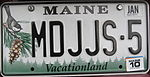 USA licenseplate Maine (cropped).JPG
