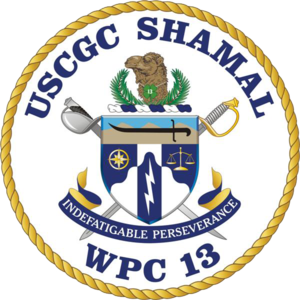 USS Shamal - Image: USCGC Shamal WPC 13 COA