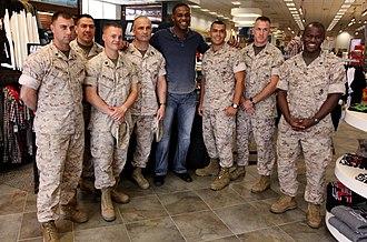 Jon Jones - Jon Jones posing with Marines at Camp Pendleton in 2010
