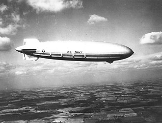 Akron-class airship - USS Akron on her first flight after her commissioning into the US Navy