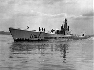 USS Escolar (SS-294), probably off Portsmouth, N.H., c. June 1944.
