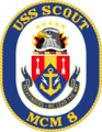 USS Scout MCM-8 Crest.png
