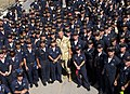 US Navy 020621-N-6803B-003 General Tommy R. Franks, Commander in Chief, United States Central Command, stops for a group photo with Sailors.jpg
