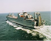 US Navy 030530-N-0000X-002 Sea trials of USNS Benavidez (T-AKR-306) by Northrop Grumman Ship System Avondale Operations