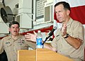 US Navy 050818-N-0874H-004 Chief of Naval Operations (CNO) Adm. Mike Mullen offers some words of wisdom to Sailors during his visit to Naval Station Mayport, Fla.jpg