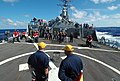 US Navy 050903-N-1332Y-094 Sailors aboard the guided missile destroyer USS Fitzgerald (DDG 62) participate in a flight deck fire drill.jpg