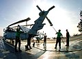 US Navy 060224-N-9174G-001 Sailors assigned to Nightdippers of Helicopter Anti-submarine Squadron Five (HS-5), clean and preserve one of their helicopters aboard the Nimitz-class aircraft carrier USS Dwight D. Eisenhower (CVN 6.jpg