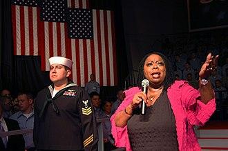 Carol Woods - Woods performing aboard the USS Kitty Hawk (CV 63) in 2007