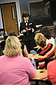 US Navy 070501-N-3271W-002 Rear Adm. Karen Flaherty, Deputy Commander, Navy Medicine, National Capital Area, tells her story to students at Creighton University School of Nursing and highlights the benefits of the Navy's.jpg