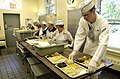 US Navy 070524-N-8467N-002 Seaman Apprentice Christopher Clement prepares trays at Holy Apostles Soup Kitchen in Manhattan.jpg