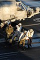 US Navy 071215-N-1635S-002 Medical personnel aboard the aircraft carrier USS Ronald Reagan (CVN 76) help unload a patient from an HH-60H Seahawk.jpg