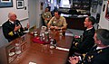 US Navy 081030-N-7705S-008 Visiting Capt. Peter de Harder chats with Vice Adm. John J. Donnelly during a recent tour and luncheon at Commander, Submarine Force headquarters.jpg