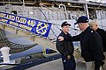US Navy 090109-N-9818V-459 Master Chief Petty Officer of the Navy (MCPON) Rick D. West stops to talk to a Sailor after visiting USS Ashland (LSD 48).jpg