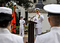 US Navy 100430-N-8273J-070 Adm. Gary Roughead speaks to the soon-to-be commissioned officers during the Naval Reserve Officers Training Corps commissioning ceremony at Florida A^M University.jpg