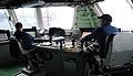 US Navy 100807-N-7058E-038 Chief Quartermaster Joseph Radford, left, watches as Lt. Adam Beauchene, officer of the deck for the littoral combat ship USS Freedom (LCS 1),.jpg