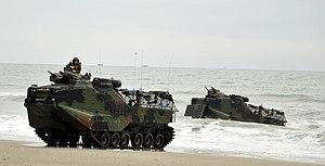 US Navy 120206-N-KB666-196 Amphibious assault vehicles (AAV) from the amphibious transport dock ship USS Oak Hill (LSD 51) make their way toward th.jpg