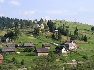 Carpathian Ruthenia - View from Kamianka-Buzka-Skole-Volovets railroad