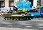 Ukrainian T-64 tanks during the Independence Day parade in Kiev.JPG