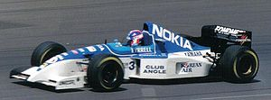 Tyrrell 023 - Ukyo Katayama driving the 023 at the 1995 British Grand Prix