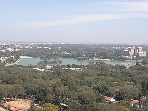 Bangalore geography and environment - Image: Ulsoor Lake from a distance