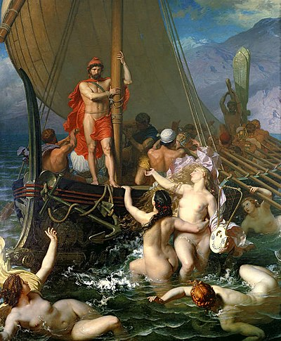 Ulysses And The Sirens by Léon Belly.jpg