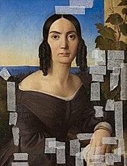 Damenportrait vor Landschaft