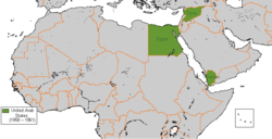 Location of United Arab States