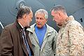 United States Ambassador to Afghanistan James B. Cunningham, left, and U.S. Marine Corps Gen. Joseph F. Dunford Jr., commander of International Security Assistance Force and U.S. Forces Afghanistan, right 131208-A-JM101-005.jpg