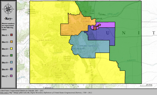 FileUnited States Congressional Districts In Colorado
