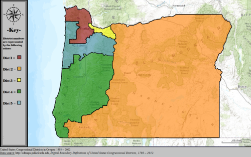 United States Congressional Districts in Oregon, 1993 – 2002.tif