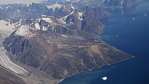 Upernivik Island - Aerial view of southwestern Upernivik Island