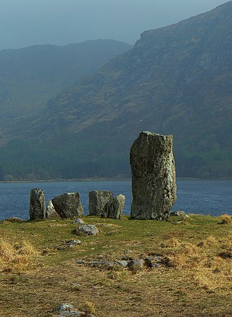 Ireland - The Uragh Stone Circle, a Neolithic stone circle in Tuosist, close to Gleninchaquin Park, County Kerry