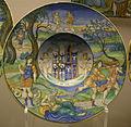 Urbino, piatto con storie apollo, stemma e motto di isabella d'este.JPG