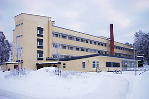 Swedish National Defence Research Institute - FOA's old office building in Ursvik, Sundbyberg Municipality.