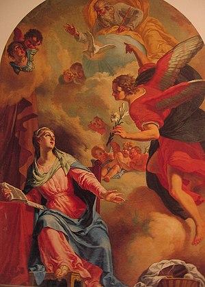 Vincenzo Angelo Orelli - Annunciation in the Monastery of Santa Maria delle Terziarie francescane, Zogno, Bergamo