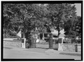 VIEW OF ENTRANCE GATES, OPEN. VIEW TO SOUTHEAST. - Salisbury National Cemetery, 202 Government Road, Salisbury, Rowan County, NC HALS NC-2-2.tif