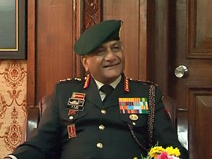 Chief of the Army Staff (India) - Image: VK singh