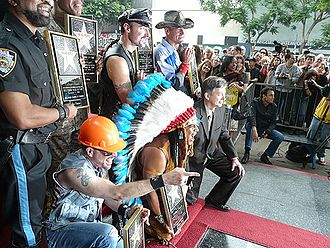 Native American Music Awards - Felipe Rose, wearing a feathered headdress was inducted into the Native American Music Awards Hall of Fame in 2008